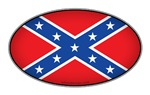 Oval Confederate Flag