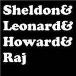 Sheldon, Leonard, Howard and Raj