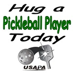 Hug a pickleball player