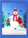 Pug Dog Frosty's Helpers