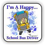Happy School Bus Driver