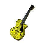 yellow semi hollow guitar