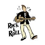 rock n roll guitar player black