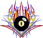 Flamed 8 Ball
