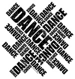 Typographic Dance (Distressed)