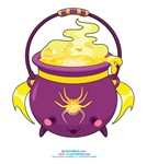 Kawaii Spider Cauldron