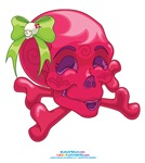 Kawaii Red Skull
