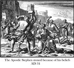 Apostle Stephen, stoned AD 34