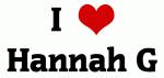 I Love Hannah G