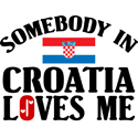 Somebody In Croatia T-shirt