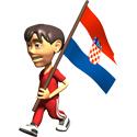 3D Croatia T-shirts