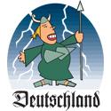 Cartoon Deutschland T-shirt