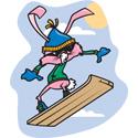 Snowboarding Rabbit