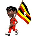 3D Uganda T-shirt