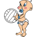 Cute Baby With Volleyball