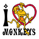 I Love Monkeys T-shirts & Gifts