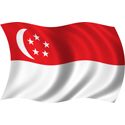 Wavy Singapore Flag