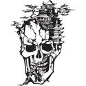 Oriental Skull Tattoo