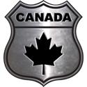 Silver Canada Crest