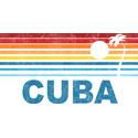 Retro Cuba Palm Tree