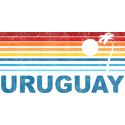 Retro Uruguay Palm Tree