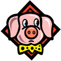 Pig With Tie