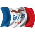 Wavy Iowa Flag