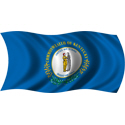 Wavy Kentucky Flag