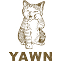 Vintage Cat Yawn