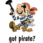 Pirate T-shirt, Pirate T-shirts, Pirate Gifts
