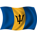 Wavy Barbados Flag