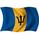 Wavy Barbados Flag