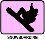 Snowboarding (pink)