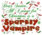 Dear Santa Sparkly Vampire
