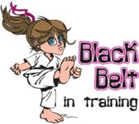 Black Belt in Training - Brunette Girl