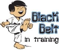 Black Belt in Training - Asian Boy