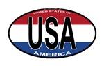 USA Colors Oval
