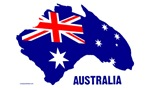 Australia Shape Flag