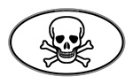 Skull and Crossbones Oval