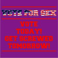 Vote For Sex- Vote Today Get Screwed Tomorrow