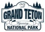 Grand Teton National Park Blue Sign