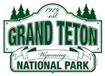 Grand Teton National Park Green Sign