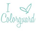 I Love Colorguard - Aqua Blue
