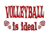 <b>VOLLEYBALL IS IDEAL</b>