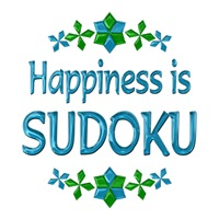 <b>HAPPINESS IS SUDOKU</b>