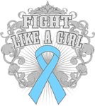 Prostate Cancer Fight Like A Girl Shirts