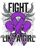 Pancreatic Cancer Ultra Fight Like A Girl Shirts