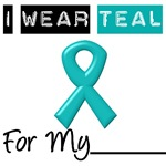 I Wear Teal Ovarian Cancer T-Shirts & Gifts