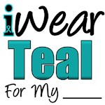 I Wear Teal Ovarian Cancer T-Shirts