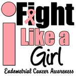 I Fight Like a Girl Endometrial Cancer T-Shirts